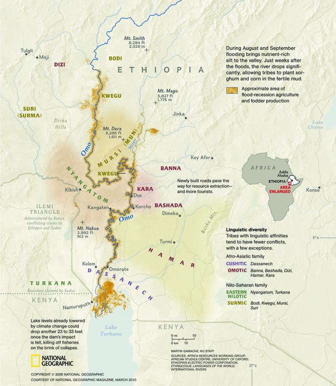 Omo River Valley Map